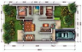 denah rumah murah