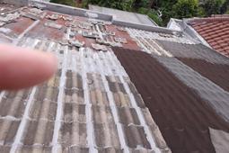 atap genteng beton bocor