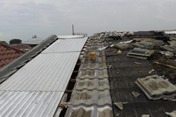 atap asbes gelombang