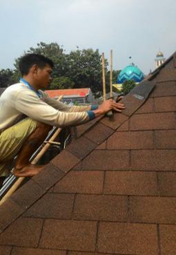 pasang atap tegola rumah di bogor