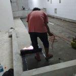 pekerjaan membran bakar lantai dak beton